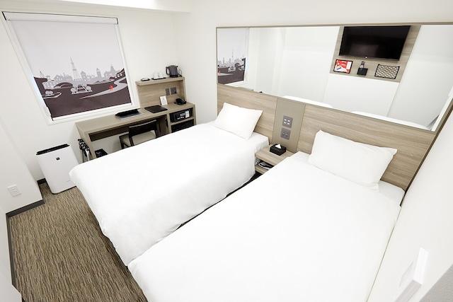 レッドプラネット札幌 すすきの中央 ツインルーム 19㎡ ベッド幅100㎝