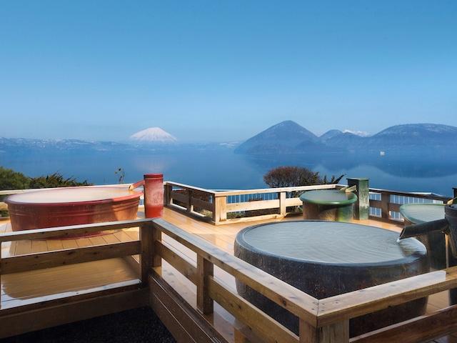 絶景の湯宿洞爺湖畔亭 空中露天風呂