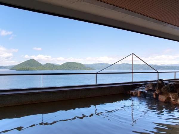絶景の湯宿洞爺湖畔亭 空中大浴場