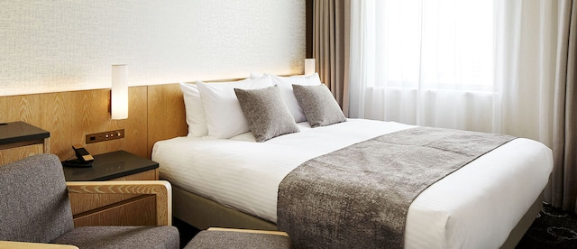 ホテルJALシティ札幌中島公園 モデレートダブル 21㎡ ベッド幅160㎝ 禁煙