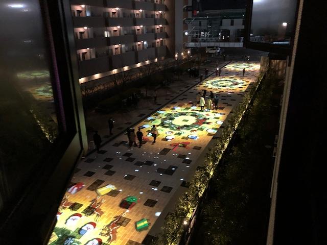 変なホテル小松駅前 プロジェクトマッピング