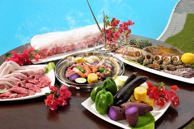 久米島イーフビーチホテル BBQ一例