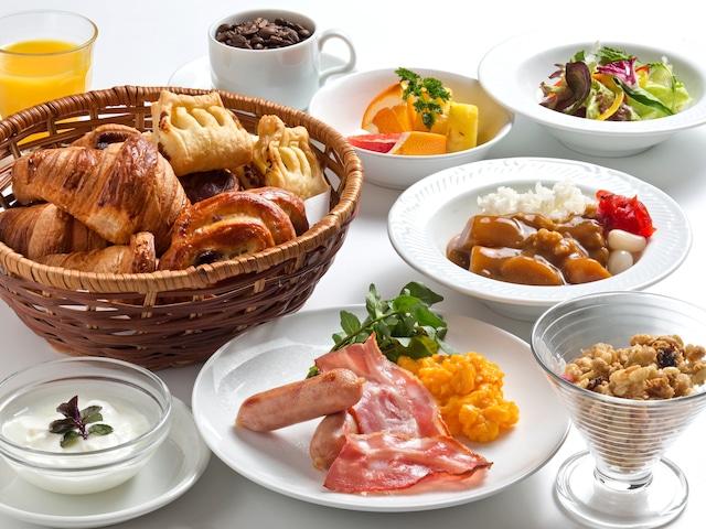 天然温泉八百治の湯 八百治博多ホテル 朝食 洋食一例