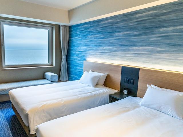 函館湯の川温泉 海と灯 スタンダードツイン 27㎡